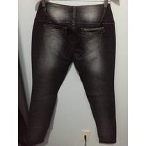 Calça Jeans Feminina Skinny Preta Brilho Katraca Nº 42