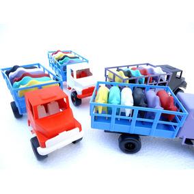 Caminhão Lote 4 Peças 6 Bois Cada - Brinquedo Varias Cores