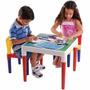 Mesa Infantil Escolar Mesinha Com Duas Cadeiras Bell Toy