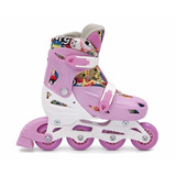 Patins Roller Radical In-line Cor Rosa M 32 Ao 35 Com Nf