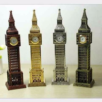 Relogio Funcional Mesa Londres Big Ben Decorativo Bronze