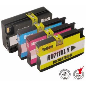 Kit Cartuchos Compatíveis Hp 711 Plotter T120 T520 Economize