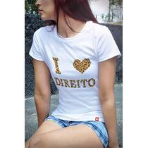 T-shirts Baby Look Cursos Direito - Cpcu00179