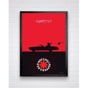 Poster Banda Red Hot Chili Peppers Tamanho A3 Com Moldura