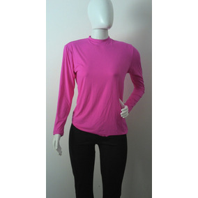 Camiseta Adulto Feminina Longa Fator Proteção Solar Uv 50+