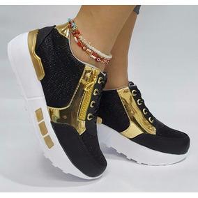 Zapato Plano Moda Negro Lujo Calzado Dama Mujer Envío Gratis
