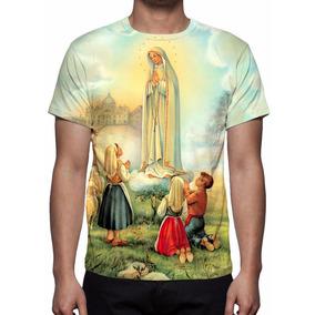 Camisa, Camiseta Nossa Senhora De Fátima - Estampa Total