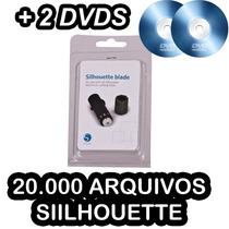 Lâmina Silhouette Cameo, Original + 2 Dvd 20 Mil Arquivos
