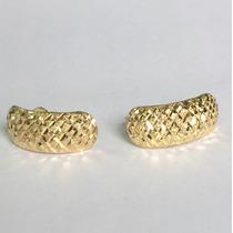 Ngold Brinco Feminino Amarelo Diamantado Ouro 18k 750.