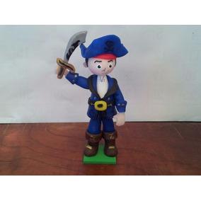 Centro De Torta Pirata Jake Capitán Porcelana Fría
