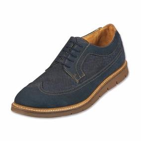 Zapatos Oxford Capa De Ozono Bostoneano Azul Y Café Envío Gr