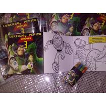 12 Invitaciones Toy Story Colorear Incluye 4 Crayolas