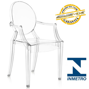 Cadeira Acrílica Design Louis Ghost Transparente Cristal