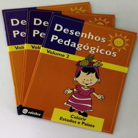 Coleção Desenhos Pedagógicos Livros Para Colorir - 3 Volum