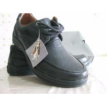 Zapato Calzado Hush Puppie Hombre Caballero Cuero N-39 Negro