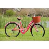 Bicicleta Dama Paseo Top Mega Flower Rodado 26 3 Velocidades