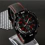 Reloj Hombre Deportivo Tuning Carrera Negro Con Rojo W5373