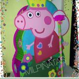 Piñata Entamborada Peppa Pig, George Pig. Fiestas Infantiles