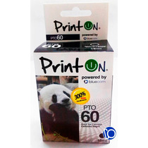 Cartucho Compatible Hp 60 Xl Negro Printon F4280 F4480