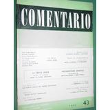 Revista Comentario 43 Scholem Cuneo Laqueur Galtier Bajarlia
