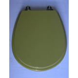 Asiento Para Inodoro Ferrum Madera Pilar Verde Palta H.cromo