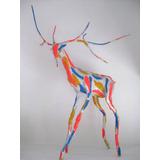 Ciervo Escultura Cartapesta Papel Decorativas Animales