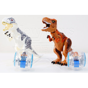 Kit Jurassic World - Indominus Rex E T-rex Vs Girosferas