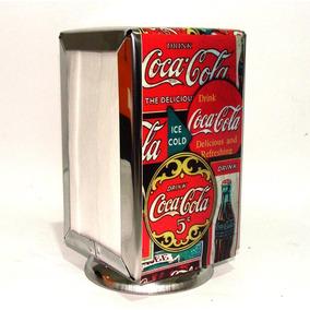 Porta Guardanapo Alumínio Estampado Bar E Lanchonetes Coca