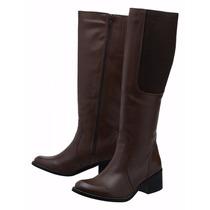 Bota Feminina Montaria Stevan Boots Cano Alto Couro
