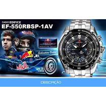 Promoção D10003 Relogio Casio Edifice Red Bull Ef550rbsp 1av