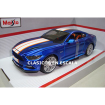 Ford Mustang Gt 2015 Linea Nueva - Muscle Car - Maisto 1/24