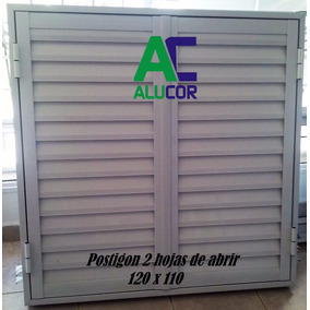 Postigon De Aluminio 120 X 110