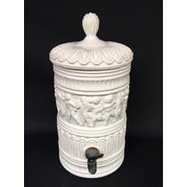 Antigo Filtro Porcelana Decoração Anjos