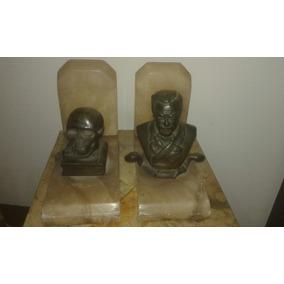 Porta Livros Osvaldo Cruz Em Alabastro E Bronze