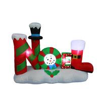 Noel Iluminado Santa Claus Adorno Navideño Inflable 4 Pies