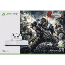 Consola Xbox One S 1tb Gears Of War 4 Blanca Envio Gratis