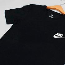 Franela Nike Negra Algodón Estampada Dama Y Caballero
