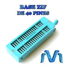 Base Zif De 40 Pines, Base Circuito Integrado, Pic16f877a