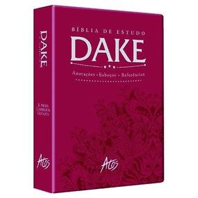 Bíblia De Estudo Dake 2015 Dicionário Expandido Vinho