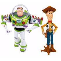 Toy Story Woody & Buzz - 40 Cm Falam Português Multikids