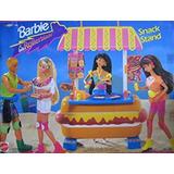 Juguete Barbie Patines De Comida Rápida Playset W Contador