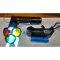 Lampara Led Tactica 2000 Lumen 186650 Recargable Con Filtro