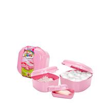 Kit Baby Porta Algodão Cotonete Saboneteira 3 Pçs Plasmont