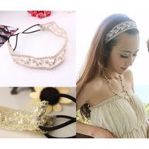 Cintillo Banda Decorativo Para Cabello Modelo Nylon Perlas