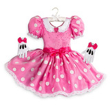 Disfraz Vestido Minnie Mouse Importado Eeuu Disney Store