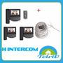 Portero Visor Hyundai Intercom Js-225 Con 3 Pant + Cable!