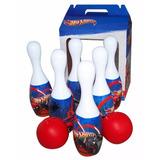 Juego De Bowling Hot Whells Bolos, Con Pelota De Regalo !!!