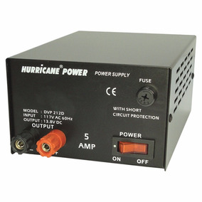Fuente De Poder Regulada 12v 5amp Hurricane Power Original