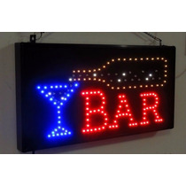 Letrero De Led Bar Con Copa Y Efectos Led E-luminex