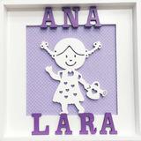 Quadro Porta De Maternidade Menina Personalizado Com Nome